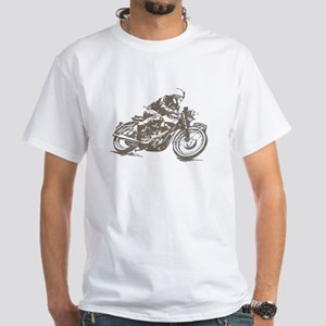 RETRO CAFE RACER White T-Shirt